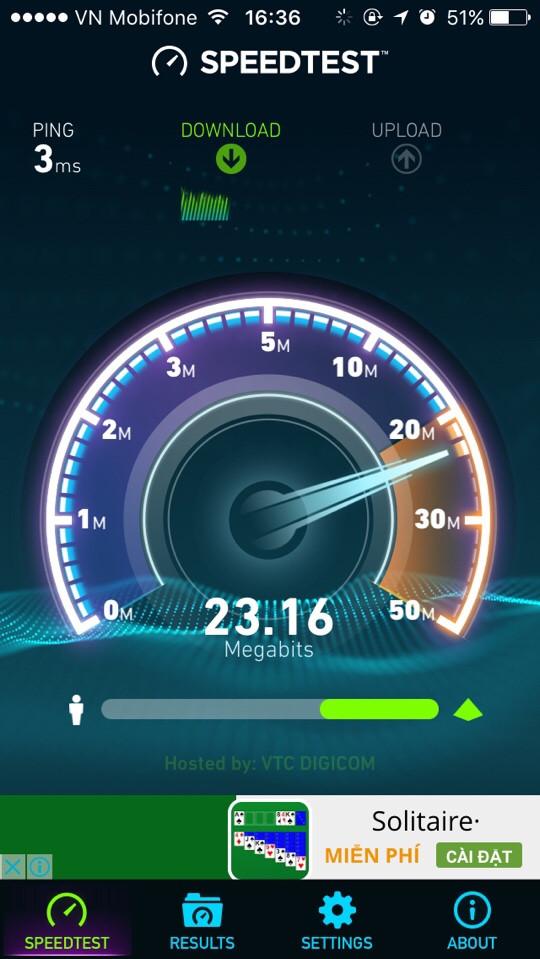 kiểm tra tốc độ mạng trên điện thoại bước 2