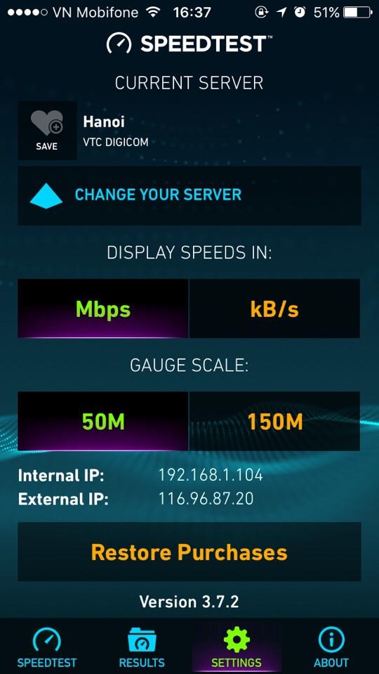đo tốc độ mạng trên điện thoại bước 3