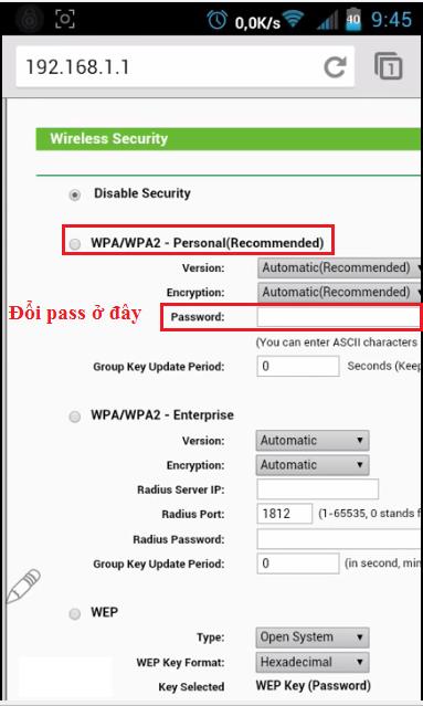 cách đổi mật khẩu wifi trên điện thoại iphone