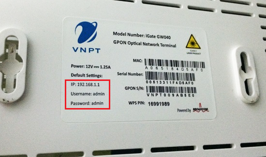 cách đổi pass wifi vnpt iGate GW040