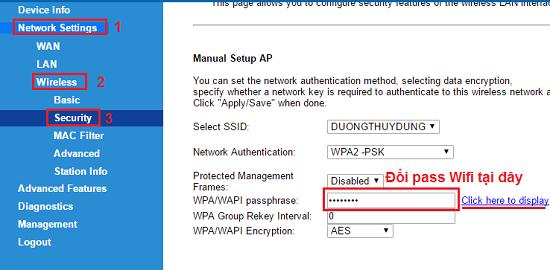 hướng dẫn đổi pass wifi vnpt