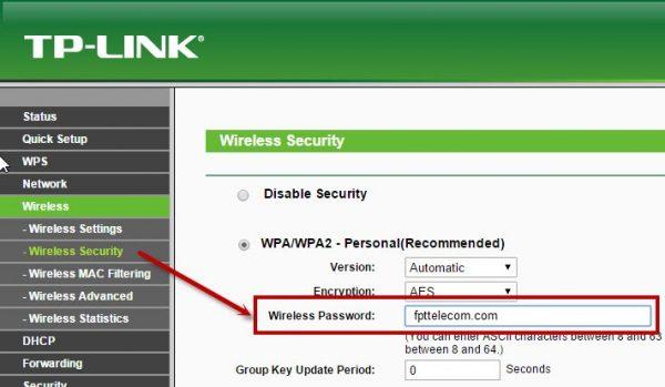 Đổi pass wifi tp link