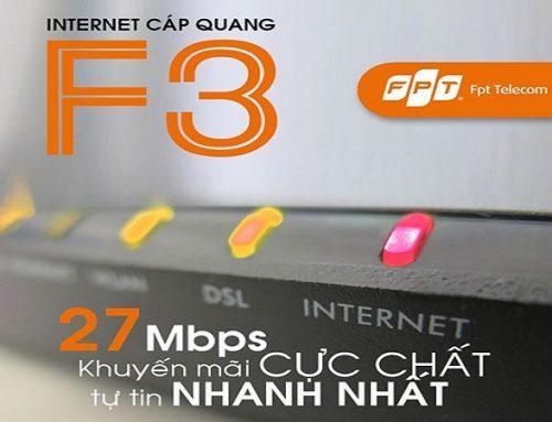 Gói cước cáp quang FPT F3 27Mbps – FPT Telecom