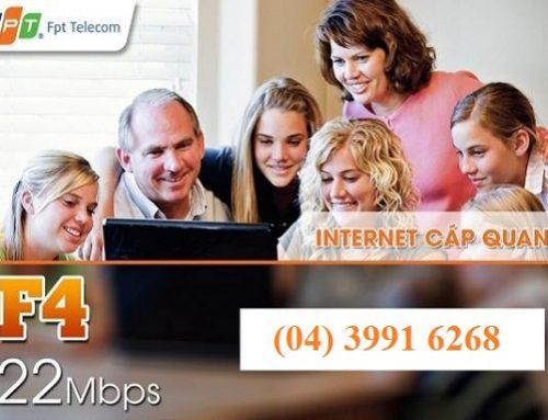 Gói cước cáp quang FPT F4 22Mbps – FPT Telecom
