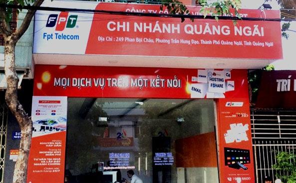 Văn phòng giao dịch FPT Quảng Ngãi phục vụ tất cả các ngày trong tuần