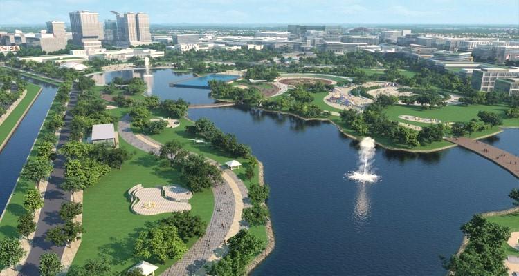 Công viên thành phố mới - Một trong những khu vực miễn phí Wifi tại Bình Dương