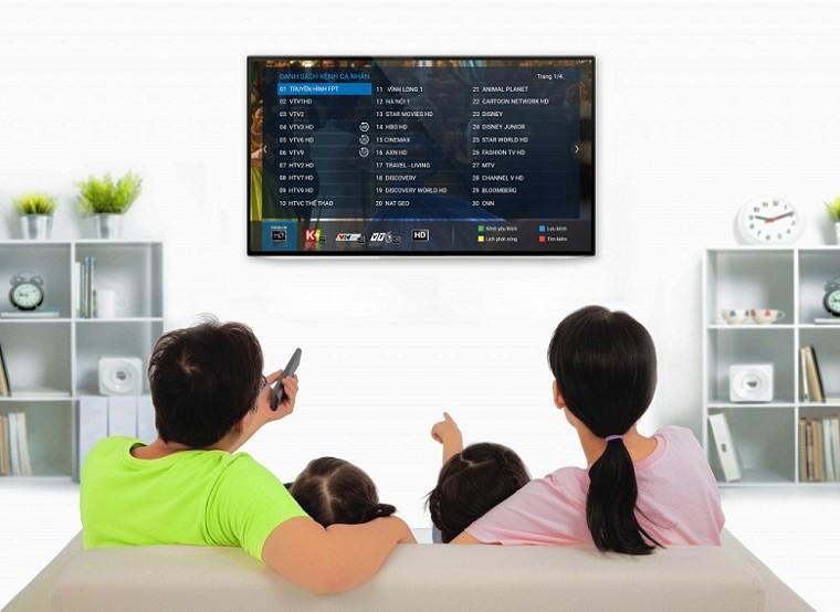 Truyền hình FPT sắc nét với hơn 180 kênh trong nước và quốc tế