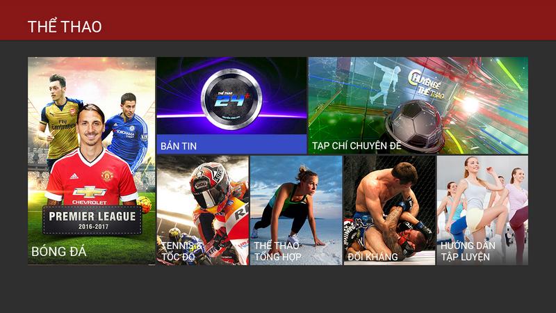 Truyền hình FPT K+ dành cho các tín đồ đam mê thể thao