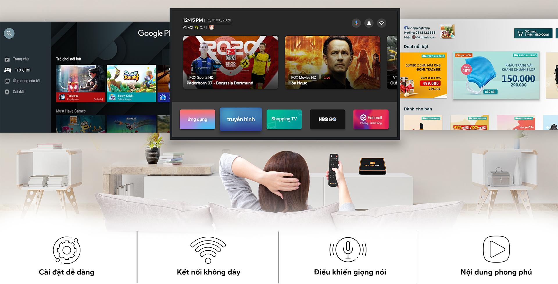 FPT Play HD đa dạng tính năng hiện đại, đường truyền ổn định