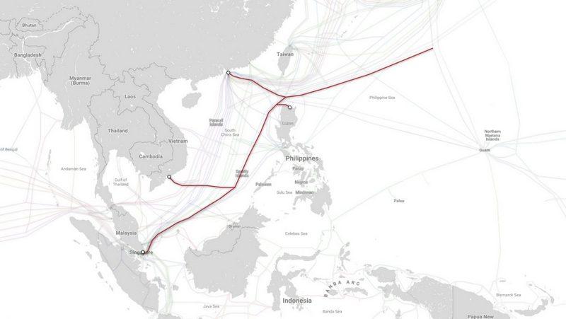 Bản đồ tuyến cáp quang IA