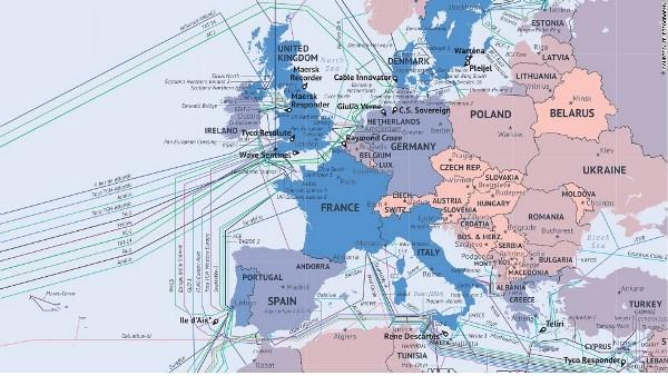 Mạng lưới cáp quang biển Châu Âu