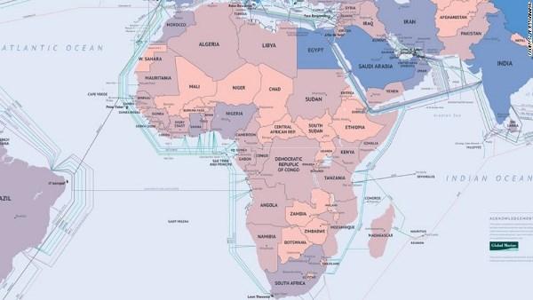 Hệ thống cáp quang biển tại Châu Phi
