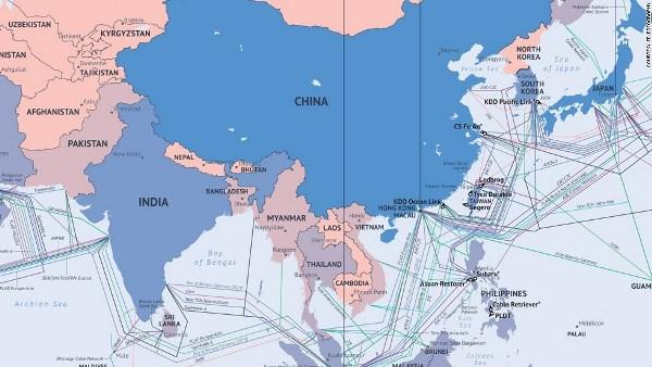Hệ thống cáp quang biển kết nối Việt Nam, Đông Nam Á, Trung Quốc và Ấn Độ