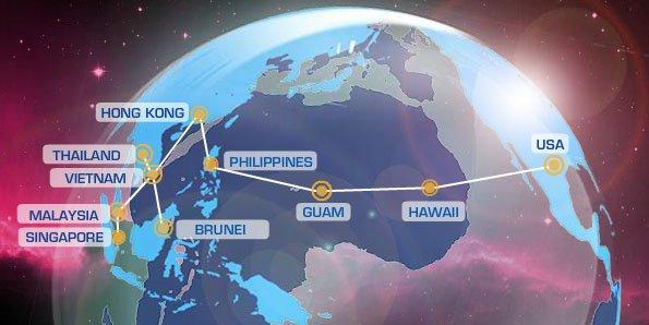 Bản đồ tuyến cáp quang AAG
