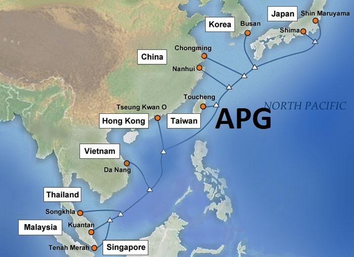 Bản đồ tuyến cáp quang APG