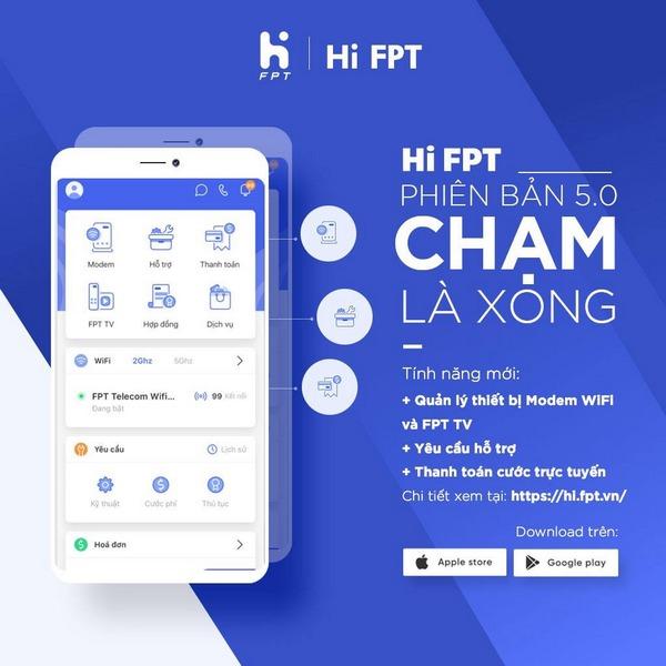 Hi FPT là ứng dụng dành riêng cho khách hàng FPT Telecom với nhiều tính năng tiện ích đi kèm