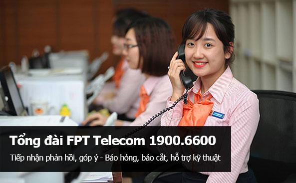 Gọi cho tổng đài FPT Telecom để báo sửa mạng FPT
